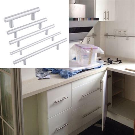 kitchen door furniture probrico diameter 12mm hole cebter 64mm 300mm stainless