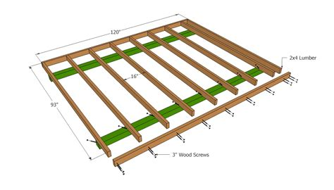 how to build floor build shed floor