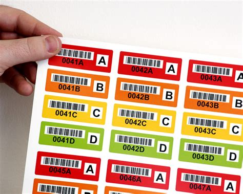 colored labels colored barcode labels effectively organize your assets