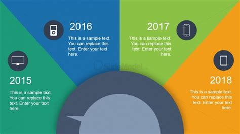 Animated Dial Timeline Design For Powerpoint Slidemodel Animated Timeline Powerpoint Template