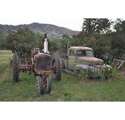 Abandoned Vintage Farm Vehicles Boulder Colorado Urban