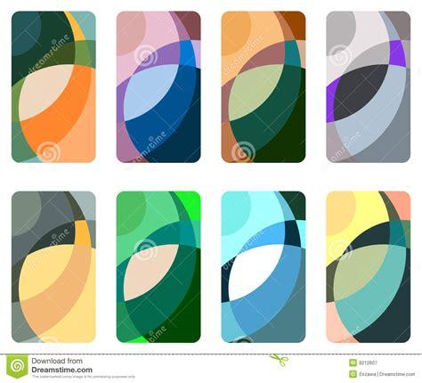 Set Blue Abstrak abstract blue background set stock vector illustration