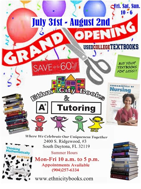 Volusia County School Calendar 2015 Ethni City Books Tutoring Grand Opening Event In South