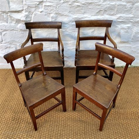 set   victorian welsh oak dining chairs