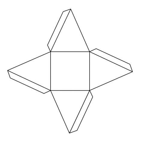 Triangular Pyramid Template pyramid net printable pdf template square based ideas