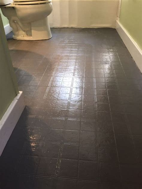 bathroom floor tile or paint hometalk