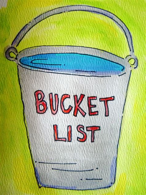 the bucket lists pondertheirrelevant