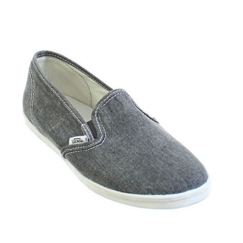 vans flat shoes womens vans slip on black washed canvas flat casual shoes