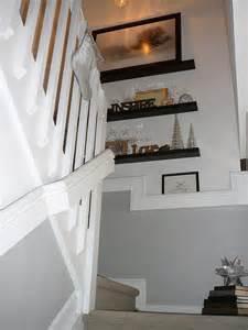 stairway decor focal point deck the halls stairway walls decor ideas pinterest shelf ideas decks
