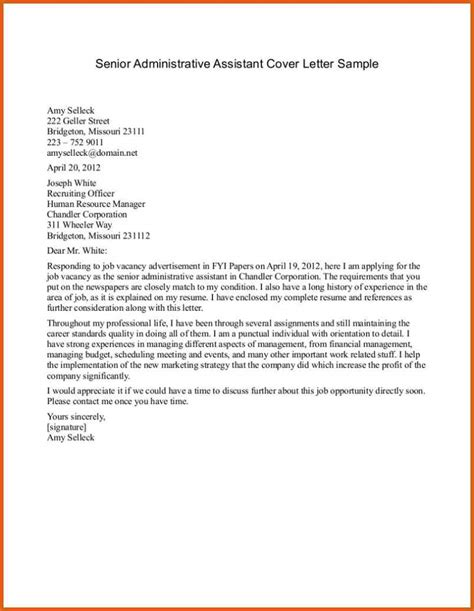 Cover Letter Administrative Assistant Exles by Best Cover Letter Sles Apa Exles