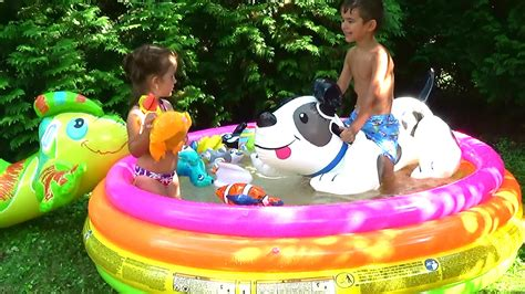 kids backyard pool outdoor playground wather kids pool fun inflatable pool