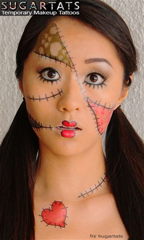 rag doll tattoo rag doll set of temporary tattoos that are makeup aids to
