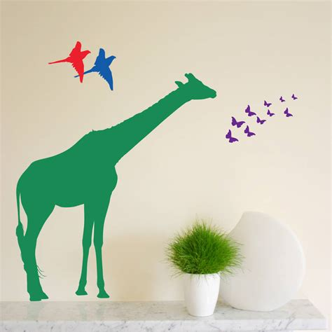 animal wall stickers individual safari animal wall stickers new sizes by the
