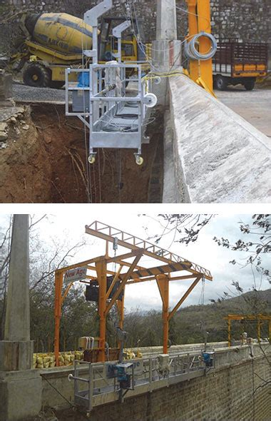 Loadcell Arrester especially designed rope suspended platform for dam silo projects