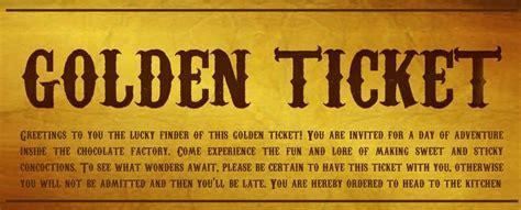 Golden Ticket Sweepstakes - it s time the golden ticket giveaway has begun