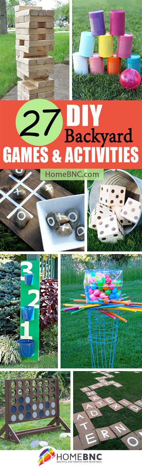 backyard game ideas 27 best diy backyard games ideas and designs for 2017