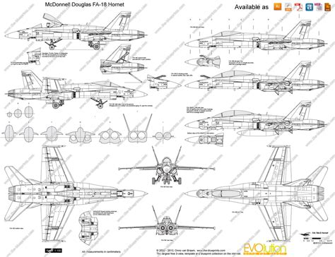 F Drawings Blueprints by The Blueprints Vector Drawing Mcdonnell Douglas Fa