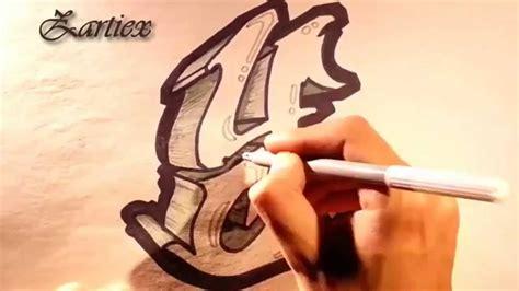 como dibujar letras de graffitis 3d letras 3d