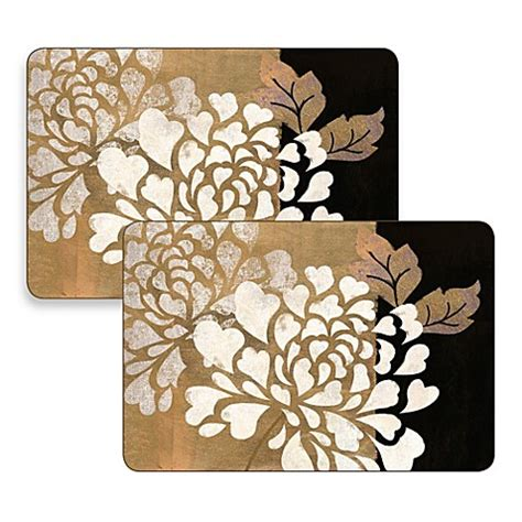 glamour of gold hardboard placemats set of 2 bed bath beyond