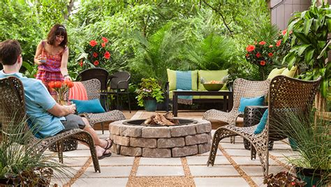 gravel patio designs outdoor space paver patio with pit