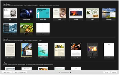 ibooks templates free ibooks author apple
