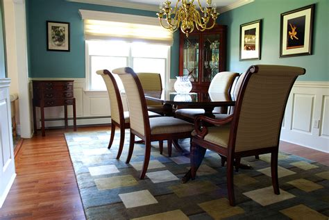 raised panel wainscoting in a dining room located in fairf