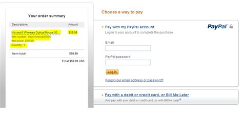 solved buyer insists that i send my paypal information fo paypal how to setup order summary for payflowpro express