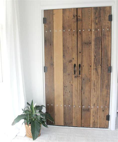 diy reclaimed wood closet doors  definery