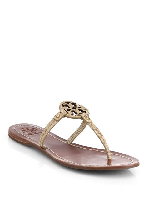 Sandal Wedges Merk Everbest Brand Original New Monogram Nellie lyst burch mini miller snake embossed leather logo sandals in brown