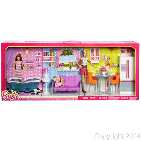 2014 new doll furniture accessories for barbie sofa 2014 barbie dreamhouse furniture giftset bedroom kitchen