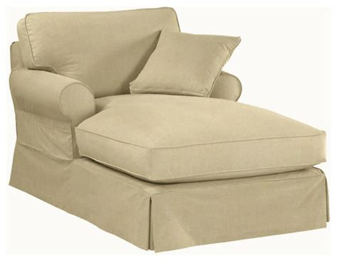 Slipcovers For Chaise Lounge Sofa Slipcovered Chaise Lounge Transitional Living Room Myideasbedroom