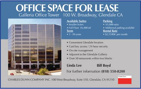 Office Space Available For Rent Businesslife Charles Dunn Office Space For Lease