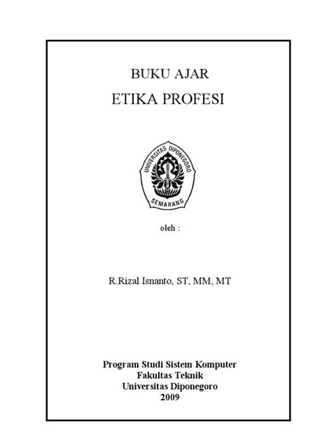 Buku Profesi Kependidikan Ombak Original etika profesi