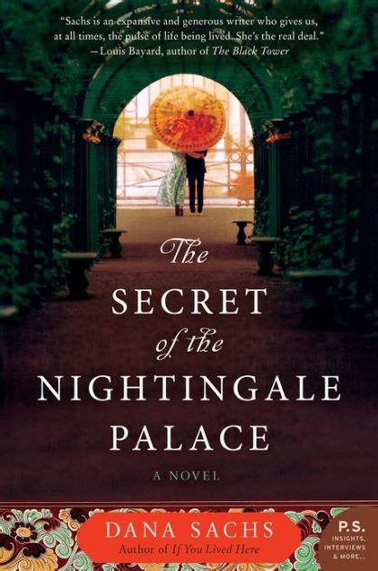 libro the secret of nightingale the secret of the nightingale palace a novel by dana sachs nook book ebook barnes noble 174
