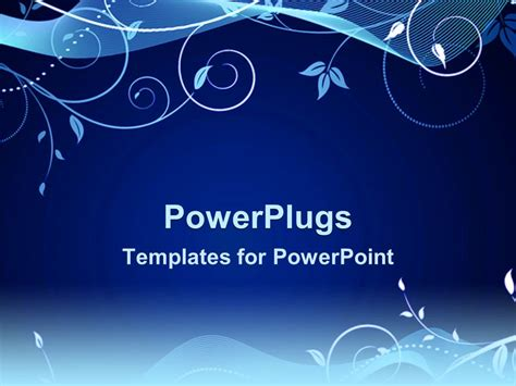 design templates for powerpoint powerpoint template a beautiful floral design on a blue