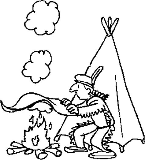 native american indian coloring pages for kids