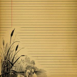 Make Your Own Writing Paper - printable lined vintage journal pages free printable