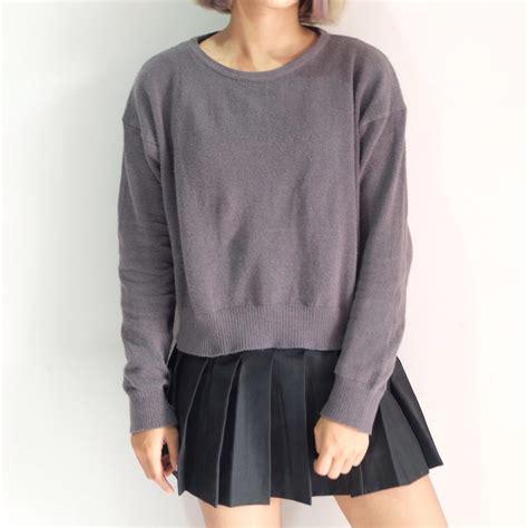 Rizka Navy rizka adelia maharani h m pullover american apparel