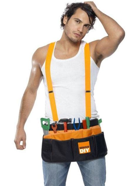 builder tool belt and tools fancy dress accessory buy
