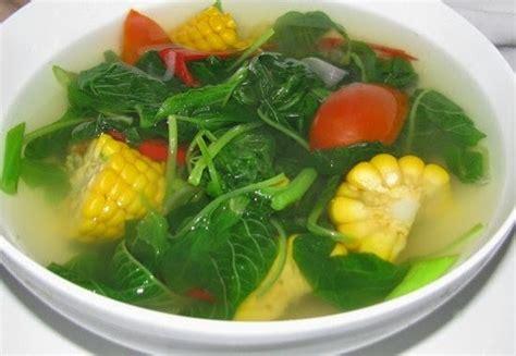cara membuat makanan ringan yang enak dan sederhana resep dan cara membuat memasak sayur bayam jagung bening