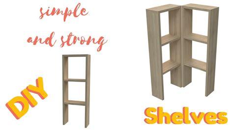 build easy  strong wooden shelves diy youtube