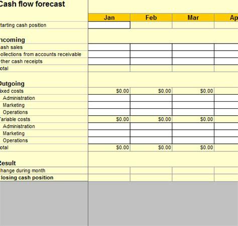 financial cash flow workbook my excel templates