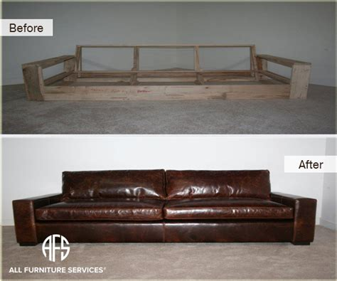 sofa base repair gallery before after pictures all furniture services