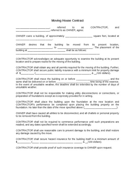Month To Month Rental Agreement Template Download Edit U0026 Fill Service Contracts U0026 Moving Agreement Template
