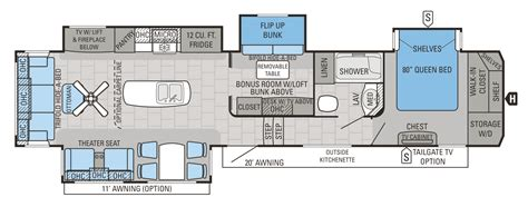 fifth wheel bunkhouse floor plans jayco 2016 floorplans 5th wheels autos post