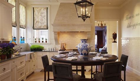 quartz countertops with off white cabinets velvet dining chairs transitional kitchen martha angus
