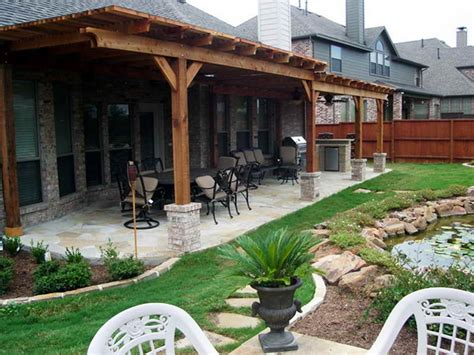 Backyard Covered Patio Patio Covers Covered Back Porch Landscape Patio Design