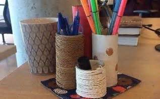 Toilet Paper Roll Desk Organizer by T P Rolls To Napkin Rings Hometalk