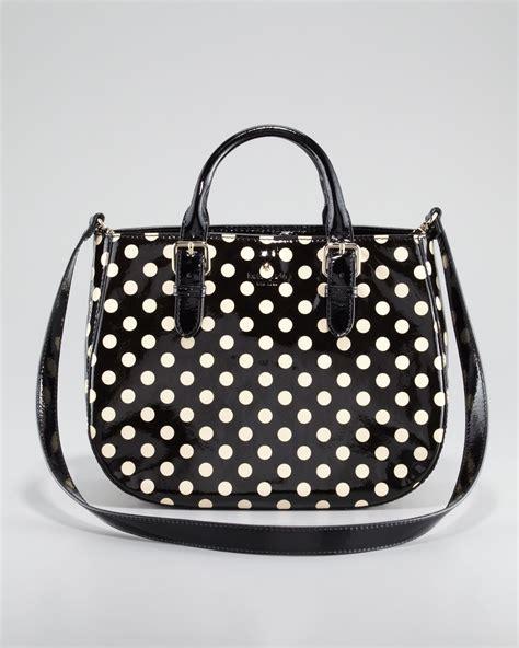 Kate Spade Polka kate spade new york polkadot carlisle sylvie bag in black lyst