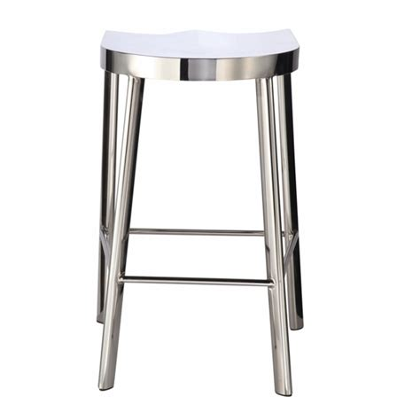 polished stainless steel counter stools swiss polished counter stool silver modern in designs